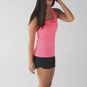 Lululemon Heathered Neon Pink swiftly tank size 6